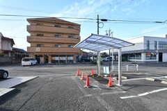 屋根付き自転車置き場の様子。(2018-10-29,共用部,GARAGE,1F)