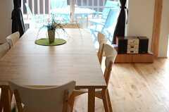 ダイニングテーブルを置くとこんな感じ。(106号室)※モデルルームです。(2014-10-10,専有部,ROOM,1F)