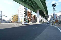 シェアハウスから浄心駅へ向かう道の様子。(2017-03-09,共用部,ENVIRONMENT,1F)