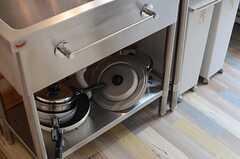 シンク下には調理器具が置かれています。(2014-06-03,共用部,KITCHEN,1F)