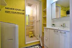脱衣室の様子。(2017-01-16,共用部,BATH,6F)