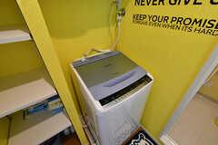 洗濯機の様子。(2017-01-16,共用部,LAUNDRY,6F)