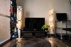 共用のTVの様子。(2012-03-27,共用部,TV,14F)