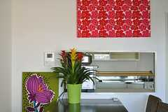 キッチンまわりにはお花がいっぱい。(2012-03-27,共用部,KITCHEN,14F)