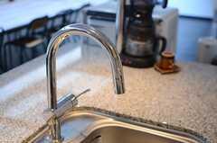 シャワー水栓付きのシンク。(2014-06-03,共用部,KITCHEN,6F)