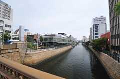 シェアハウスへ向かう途中の河川。(2014-06-03,共用部,ENVIRONMENT,1F)