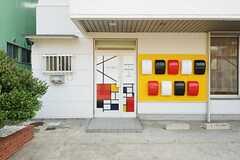 シェアハウスの玄関の様子。(2013-09-12,周辺環境,ENTRANCE,1F)