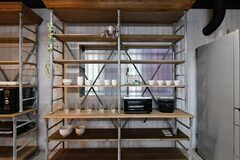 食器棚の様子。(2017-03-21,共用部,KITCHEN,1F)