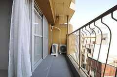 ベランダは402、403号室で共用です。(402号室)(2013-02-26,専有部,ROOM,4F)