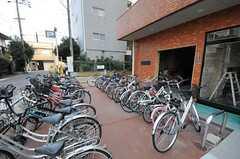 自転車置き場の様子。(2013-02-26,共用部,GARAGE,1F)