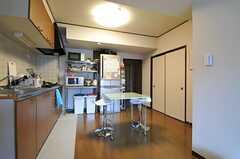 キッチンの様子。(2012-10-26,共用部,KITCHEN,5F)