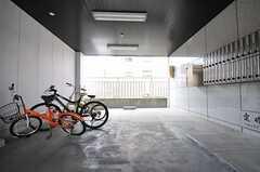 自転車置場の様子。(2012-12-09,共用部,GARAGE,1F)