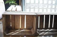 スツール代わりに使えそうな木箱。(2013-02-25,共用部,LIVINGROOM,2F)