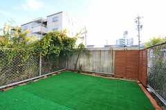 庭の様子。(103号室)(2012-10-26,専有部,ROOM,1F)
