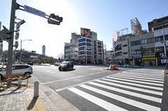 名古屋市営地下鉄東山線・東山公園駅前の交差点。(2013-02-25,共用部,ENVIRONMENT,1F)