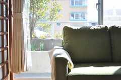 リビングのソファの様子。(2012-02-03,共用部,LIVINGROOM,4F)