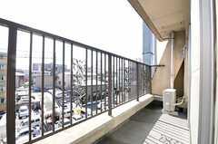 ベランダの様子。(502号室)(2012-02-03,専有部,ROOM,5F)