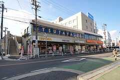 シェアハウスから名古屋市営地下鉄東山線・一社駅へ向かう道の様子。(2012-02-03,共用部,ENVIRONMENT,1F)