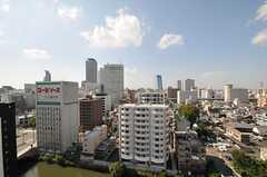 玄関前から見た名古屋駅方向。(2011-10-16,共用部,OTHER,14F)