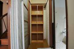 脱衣室の様子。(2011-06-11,共用部,BATH,1F)