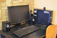 共用PCの様子。(2013-03-22,共用部,PC,1F)
