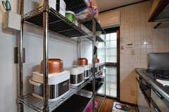 キッチンの対面は収納棚です。(2017-10-17,共用部,KITCHEN,1F)