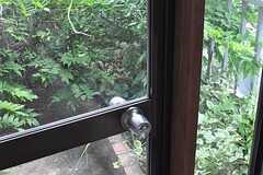ドアの外はベランダ。日当たり良しです。(205号室)(2012-05-21,専有部,ROOM,2F)