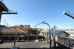屋上には物干しスペースもたっぷり。(2012-05-21,共用部,OTHER,3F)
