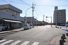 JR成田線酒々井駅からシェアハウスへ向かう道の様子。(2012-05-21,共用部,ENVIRONMENT,1F)