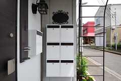 ポストは玄関ドアの両脇にあります。(2012-05-21,周辺環境,ENTRANCE,1F)
