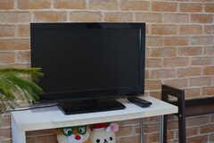 共用TVの様子。(2021-03-15,共用部,TV,3F)