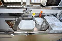シンクの様子。洗い桶が設置されています。(2020-01-09,共用部,KITCHEN,1F)