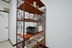 食器棚の様子。(2020-01-09,共用部,KITCHEN,1F)