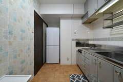 キッチンの様子。(104号室)(2017-08-09,共用部,KITCHEN,1F)