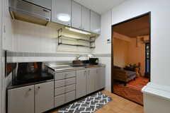 キッチンの様子2。(104号室)(2017-08-09,共用部,KITCHEN,1F)