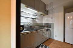 キッチンの様子。(205号室)(2017-08-09,共用部,KITCHEN,2F)