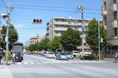 駅からシェアハウスへ向かう道の様子。(2017-08-09,共用部,ENVIRONMENT,1F)