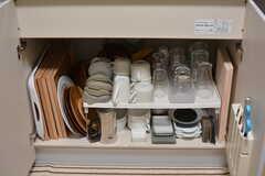 共用の食器の様子。(2021-03-11,共用部,KITCHEN,1F)