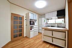 キッチンの様子。キッチンはフロアごとに用意されています。(2019-04-17,共用部,KITCHEN,1F)