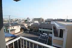 窓から見た外の景色。(2014-07-15,専有部,ROOM,4F)