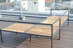 造作されたベンチ。(2014-07-15,共用部,OTHER,5F)
