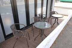 テラスでは喫煙もできます。(2013-03-04,共用部,OTHER,1F)