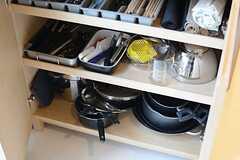 調理器具も豊富に用意されています。(2015-03-20,共用部,KITCHEN,1F)