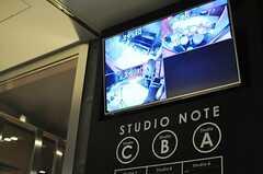 音楽スタジオのサイン。予約を書き込むことができます。(2014-02-18,共用部,OTHER,1F)