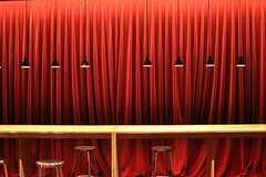多目的ルームの様子。赤いカーテン。(2014-02-28,共用部,LIVINGROOM,1F)