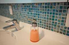 ハンドソープも提供される。壁面の小さなタイルがとてもかわいい。(2008-06-17,共用部,OTHER,3F)