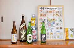 千葉県産の日本酒が置いてあります。(2016-01-07,共用部,OTHER,2F)