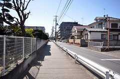 東京メトロ東西線・原木中山駅前からシェアハウスへ向かう道の様子。(2009-02-17,共用部,ENVIRONMENT,3F)