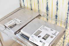 全室、収納用のカバーが用意されています。(102号室)(2016-12-09,専有部,ROOM,1F)