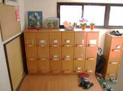 靴箱の様子。(2008-02-20,周辺環境,ENTRANCE,1F)